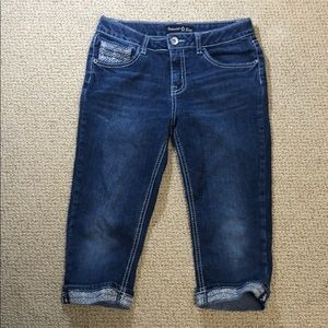 IMPERIAL STAR Crop Jeans Embroidered 14